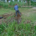 The Water Project: Mukhonje Community, Mausi Spring -  Digging Cut Off Drainage