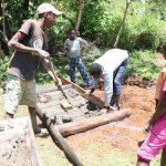 The Water Project: Mukhonje Community, Mausi Spring -  Sanplat Construction