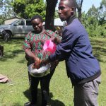 The Water Project: Mukhonje Community, Mausi Spring -  Facilitator Demonstrating Handwashing