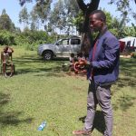 The Water Project: Mukhonje Community, Mausi Spring -  Solar Disinfection Demonstration