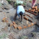 The Water Project: Mukhonje Community, Mausi Spring -  Bricks Setting