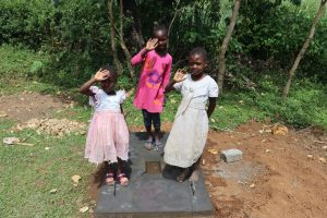 The Water Project:  Emma And Her Sisters On A Completed Sanplat