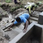 The Water Project: Mukhonje Community, Mausi Spring -  Staircase Plastering