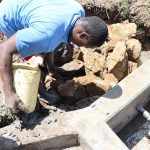 The Water Project: Mukhonje Community, Mausi Spring -  Clay Backfilling