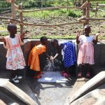 The Water Project: Mukhonje Community, Mausi Spring -  Girls Celebrating Water