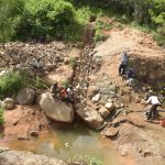 The Water Project: Nzimba Community -  Dam Construction Progress
