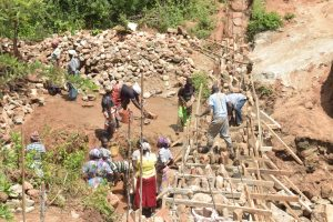The Water Project:  Working On The Top Of The Walls