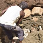 The Water Project: Nzimba Community A -  Mason Builds Well Walls