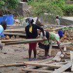 The Water Project: Nduumoni Community A -  Lifting Boards