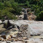 The Water Project: Nduumoni Community A -  Dam Wing Wall Progress