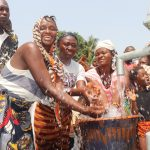 The Water Project: Lungi, Rosint, #26 Old Town Road -  Community Women Celebrating And Splashing Water