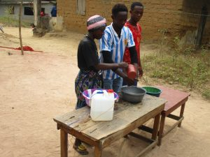 The Water Project:  Participants Demonstrate Proper Handwashing