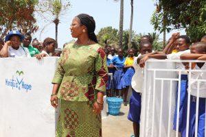 The Water Project:  School Principal Madam Mevinal E Sumanna