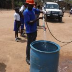 The Water Project: Lungi, Madina, St. Mary's Junior Secondary School -  Yield Test