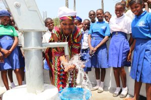 The Water Project:  Chief Happyily Splashing Safe Drinking Water