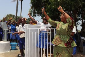 The Water Project:  School Principal Celebrating With Students For Safe Drinking Water