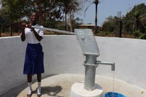 The Water Project:  Student Happy Collecting Safe Drinking Water