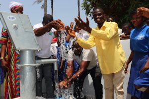 The Water Project:  Teachers Celebrating And Splashing Clean Safe Drinking Water