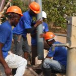 The Water Project: Lungi, Thomossoh, #24 Thullah Street -  Drilling Installation Of Six Inch Pipe