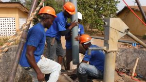 The Water Project:  Drilling Installation Of Six Inch Pipe