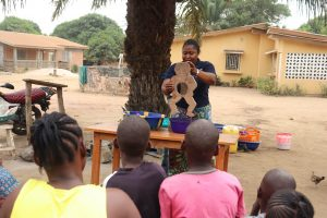 The Water Project:  Hygiene Facilitator Teaching About Diarhea