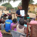 The Water Project: Lungi, Thomossoh, #24 Thullah Street -  Hygiene Facilitator Teaching How To Avoid Bad Hygiene Practices