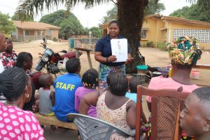 The Water Project:  Hygiene Facilitator Teaching How To Avoid Bad Hygiene Practices