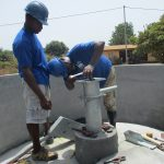 The Water Project: Lungi, Thomossoh, #24 Thullah Street -  Pump Installation