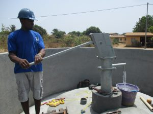 The Water Project:  Testing After Finished Installing Pump