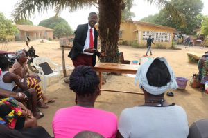 The Water Project:  Ward Councilor Explaining What He Learned From The Hygiene Training