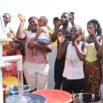 The Water Project: Lungi, Thomossoh, #24 Thullah Street -  Community Members Celebrate