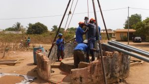 The Water Project:  Drilling Installation Of Four Inch Pipe