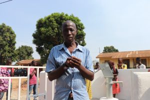 The Water Project:  Mr Osman Sesay