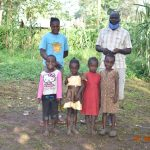 The Water Project: Mungakha Community, Nyanje Spring -  Patrick With His Wife And Kids