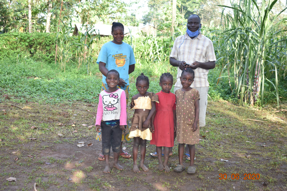 The Water Project : 0-1-covid19-kenya18313-patrick-with-his-wife-and-kids