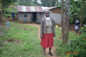 The Water Project:  Josephine Shamala Outside Her Home