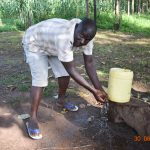 The Water Project: Mungakha Community, Nyanje Spring -  Patrick At His Handwashing Station