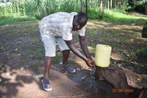 The Water Project:  Patrick At His Handwashing Station
