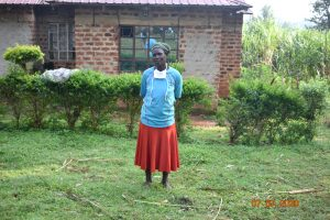 The Water Project:  Catherine Waka Outside Her Home