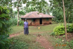 The Water Project:  Everlyne Muruli Outside Her Home