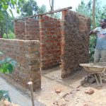 The Water Project: Mutiva Primary School -  Outside Plaster Of The Latrine Wall
