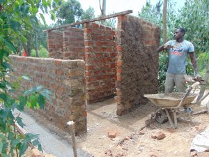 The Water Project:  Outside Plaster Of The Latrine Wall