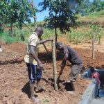 The Water Project: Ewamakhumbi Community, Mukungu Spring -  Fencing