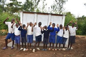 The Water Project:  Boys In Front Of Their Latrines