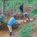 The Water Project: Ewamakhumbi Community, Mukungu Spring -  Site Excavation