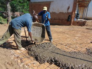The Water Project:  Setting The Foundation Slab