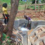 The Water Project: Ewamakhumbi Community, Mukungu Spring -  Cooling Off