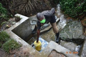 The Water Project:  Philip Fetches Water From Asena Spring
