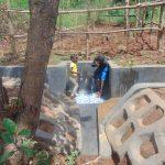 The Water Project: Ewamakhumbi Community, Mukungu Spring -  Kids Enjoy The Spring