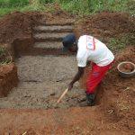 The Water Project: Ewamakhumbi Community, Mukungu Spring -  Foundation Laying
